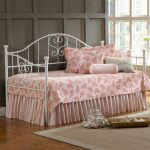Rectangular Sisal Rug In Girl Bedroom With White Bed Frame And Pink Bedding