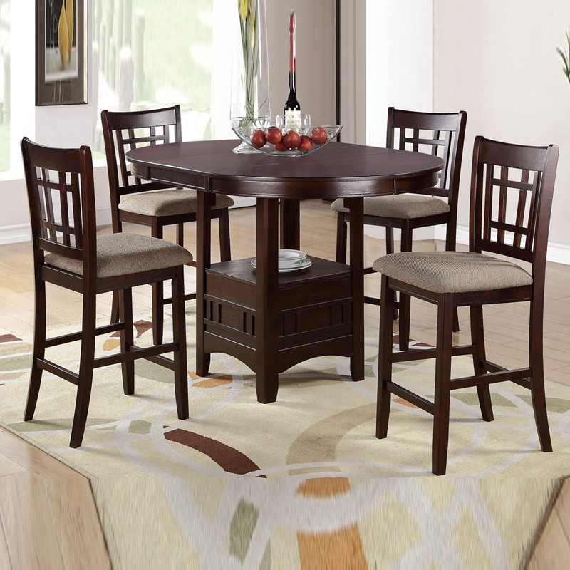 Round high top table and chairs table designs for High top dinette sets