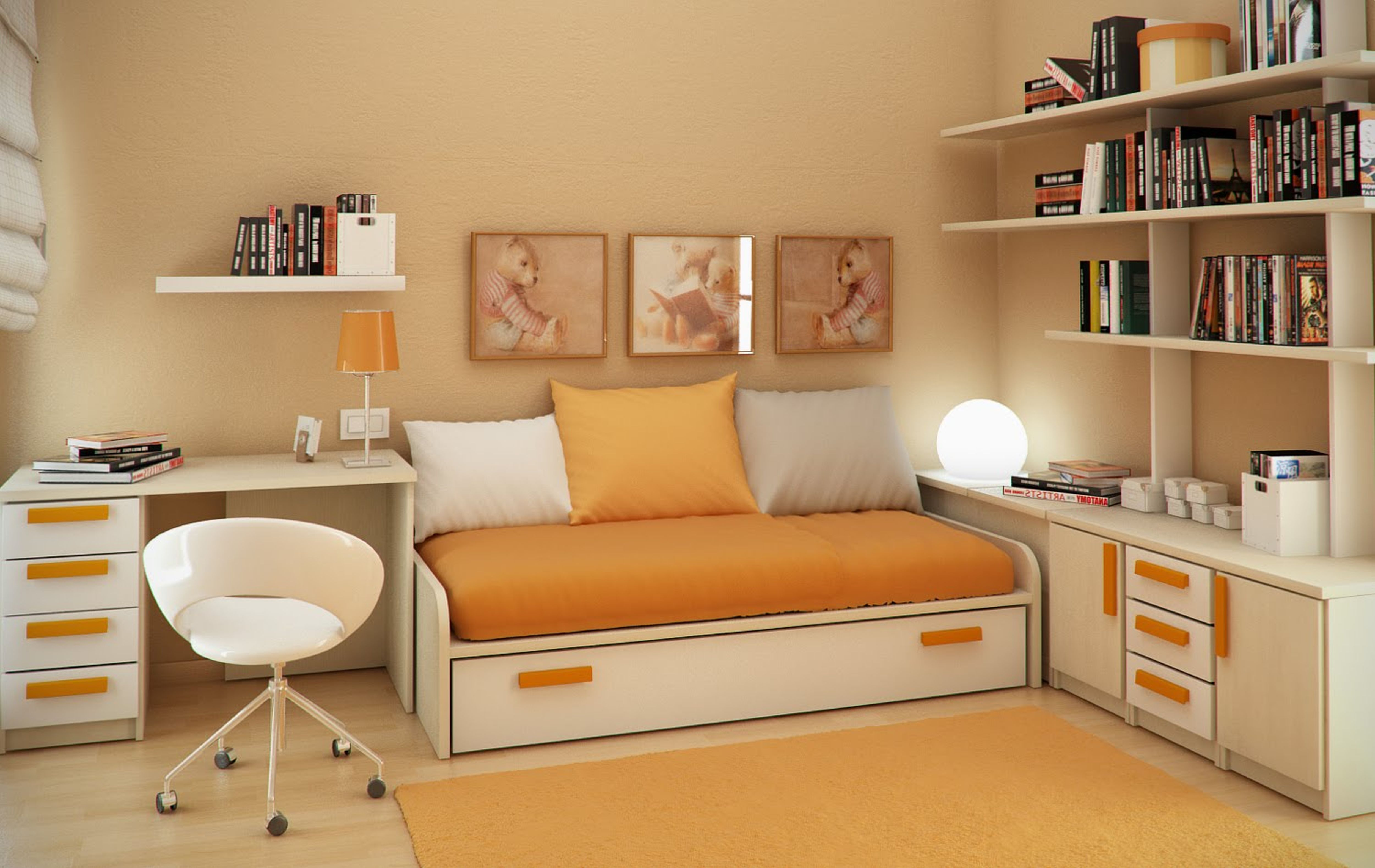Small Bedroom Desk Small Bedroom Desks For A Narrow Bedroom Space Homesfeed