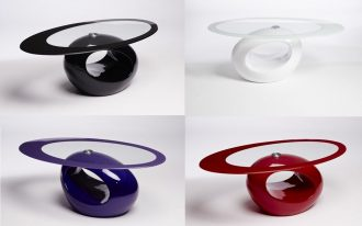 small glass coffee tables in various color options with unique shape for awesome living room ideas