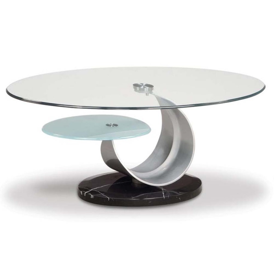 Round black glass coffee table - Small Round Glass Coffee Tables
