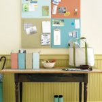 Smart Entryway Organization Ideas With A Message Place And Sorting Stations Personalize Bins To Organize Mail And Paperworks Shoes And Boots Under The Wooden Table