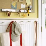 Smart Entryway Organization With Double Usage Of Message Board For Placing Both Messages And Keys Also For Other Magnetic Items Because Of The Magnetic Knife Holder