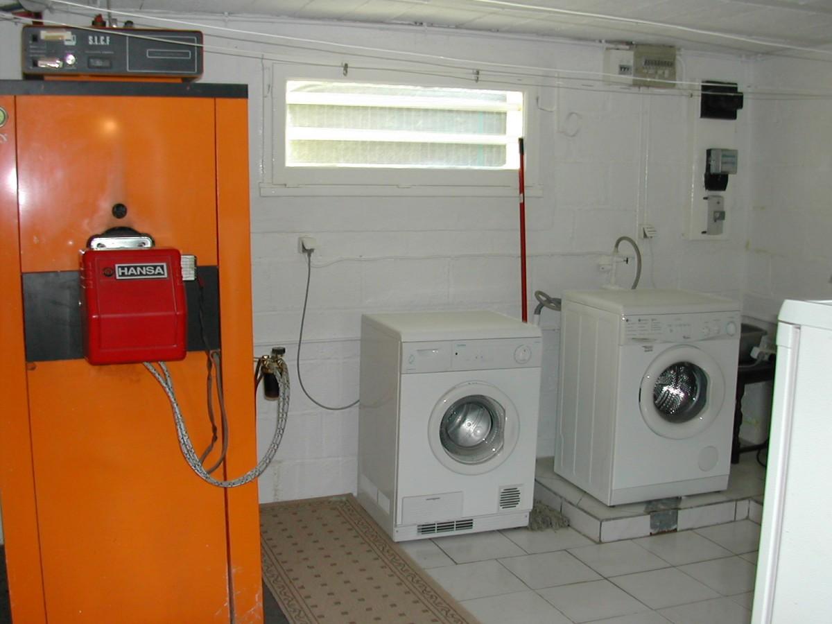 basement washing machine