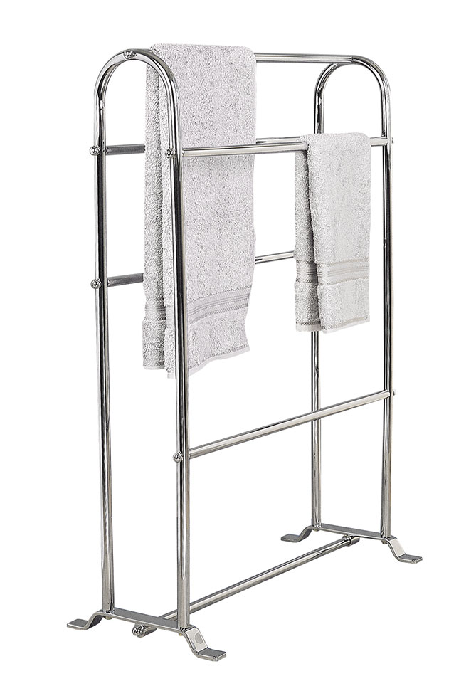 Stylish Free Standing Towel Racks For Outstanding Bathroom