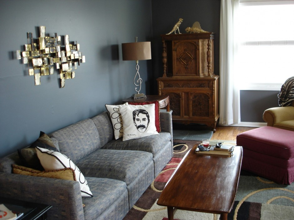 Living Room Design with Gray Sofa Displays Comfort and Luxury ...