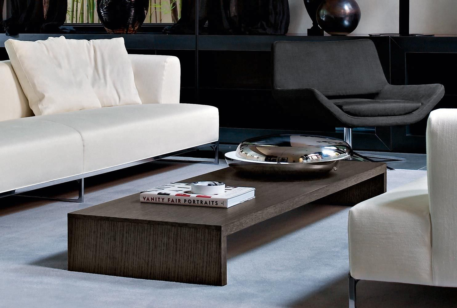 Super simple wooden walmart coffee table idea on white area rug with white sofa design and