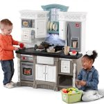 The Best Kitchen Play From Step2 The Lifestyle Dream Kitchen In White Black Silver Colors With Play Phone Overhead Light Oven And Microwave Keypad And Stove Top Burner