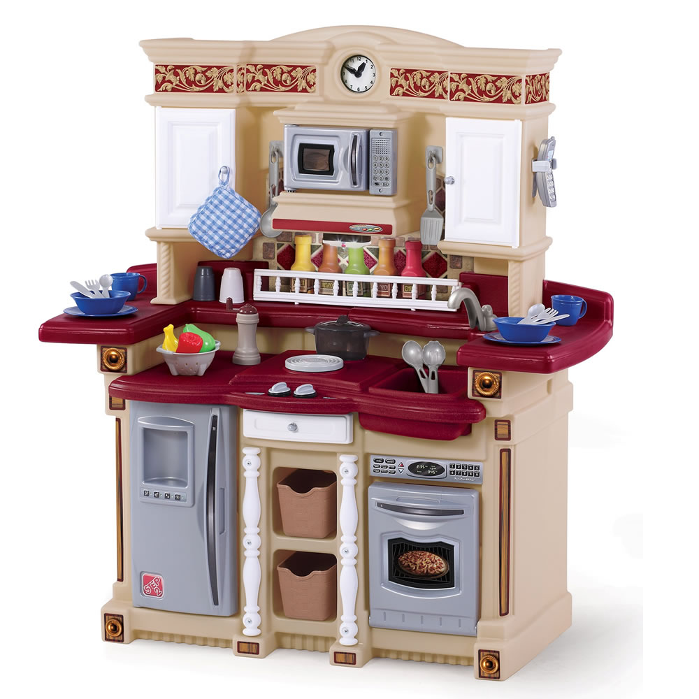 Best Kitchen Plays for Kids HomesFeed : the lifestyle party time kitchen by step2 with multiple storage areas features toy microwave stove top overhead light and phone also 33 piece accessory set2 from homesfeed.com size 1000 x 1000 jpeg 149kB