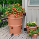 the-rainstation-45-gallon-rain-barrel-with-snap-on-lid-and-convenient-size-for-decks-patios-and-balconies-aso-sealed-system-resists-and-diverter-with-spigot-and-drain