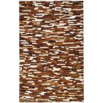 traditional-cowhide-patchwork-rug-with-strip-brown-and-multicolor-such-as-taupe-and-ivory-also-handcrafted-and-leather-material
