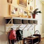 Transform An Entryway With Basket Rack And Cubicles Forms For The Basket In The Top Set And Four Poplar Boards With Pegs In The Bottom Set