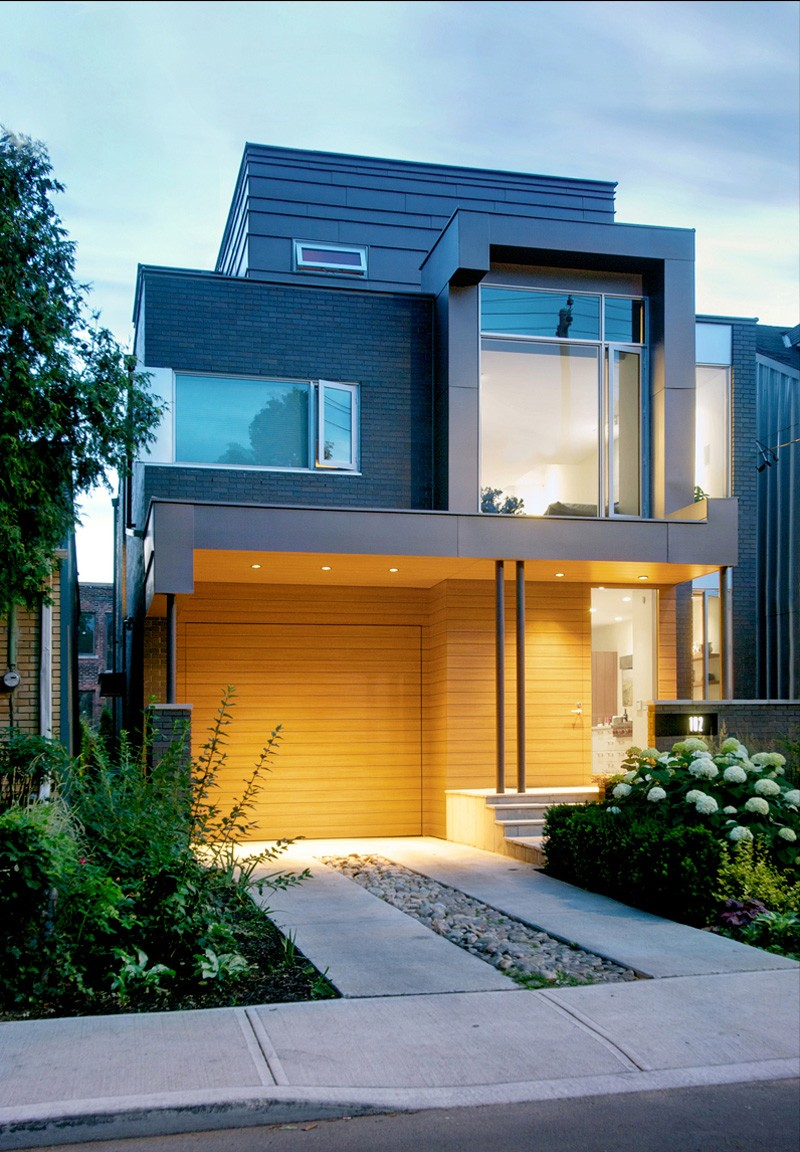 Living in contemporary two storey house design posh and for Modern 2 storey house designs