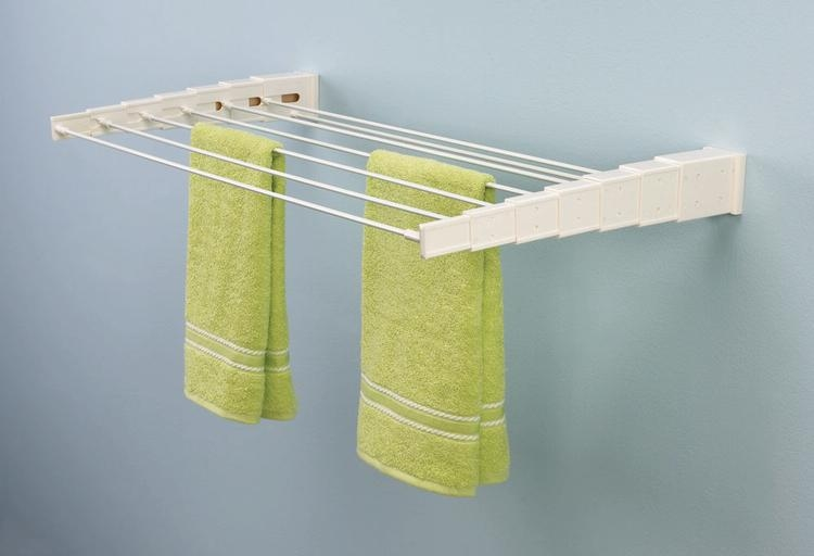 Useful wall mounted drying rack homesfeed for Drying cabinets for clothes