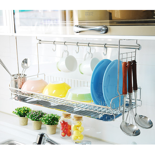 Wall Mounted Drying Rack For The Dishes Homesfeed