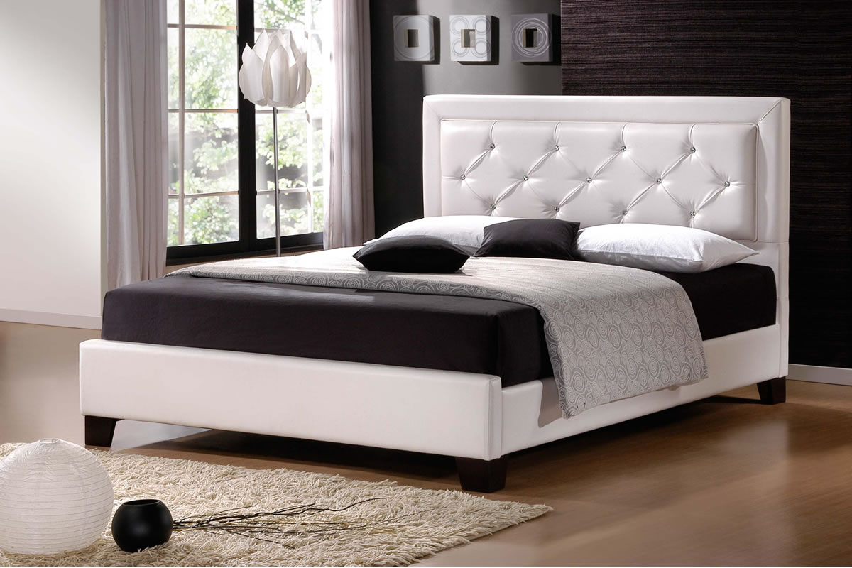 Modern king size bed frames providing a spacious room for for Bedroom size