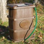 wood-grain-rain-barrel-rb-03-made-of-durable-UV-stable-and-polyethylene-material-also-includes-removable-debris-screen-4-hose-overflow-hose-and-hook-up-kit