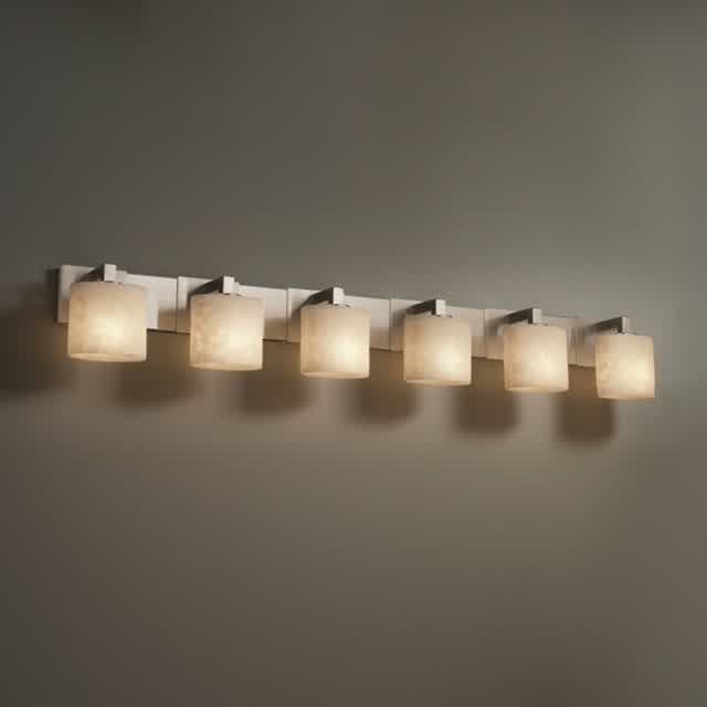 fill your bathroom vanity with dramatic lights by With 6 lamp bathroom light fixture