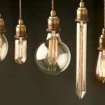 7 sets of old fashioned light bulb in edison style