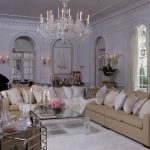 Amazing Old Hollywood Glamour Decor With Big Crystal Chandelier