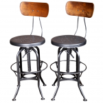 Amazing Retro Vintage Metal Bar Stools