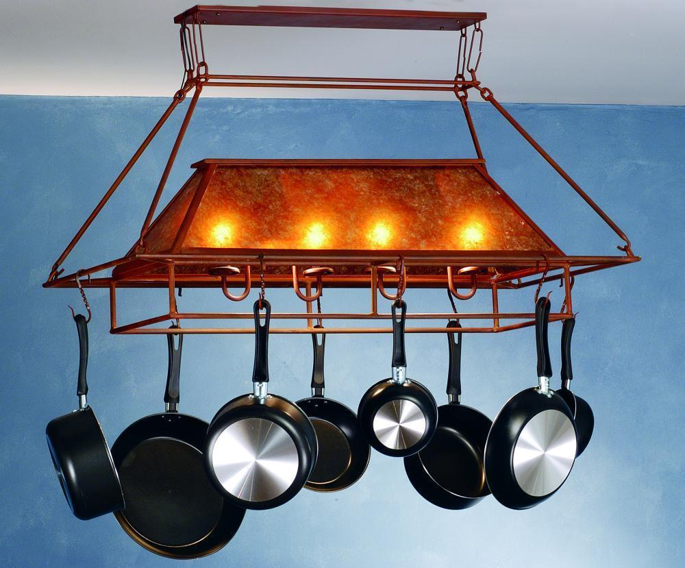 Kitchen pot racks with lights - Awesome Design Of Pot Rack With Lights On White Ceiling Pot Rack With Lights Homesfeed