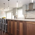 Awesome Kitchen Pendant Light Fixture Along Kitchen Island With Grey Wall Tile Kitchen