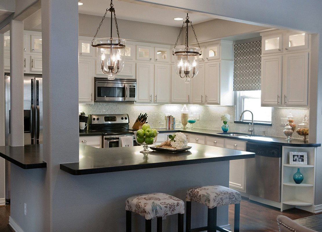 Light fixtures for kitchen ceiling - Awesome Kitchen Pendant Light Fixture With White Cabinet And Double Decorative Stools