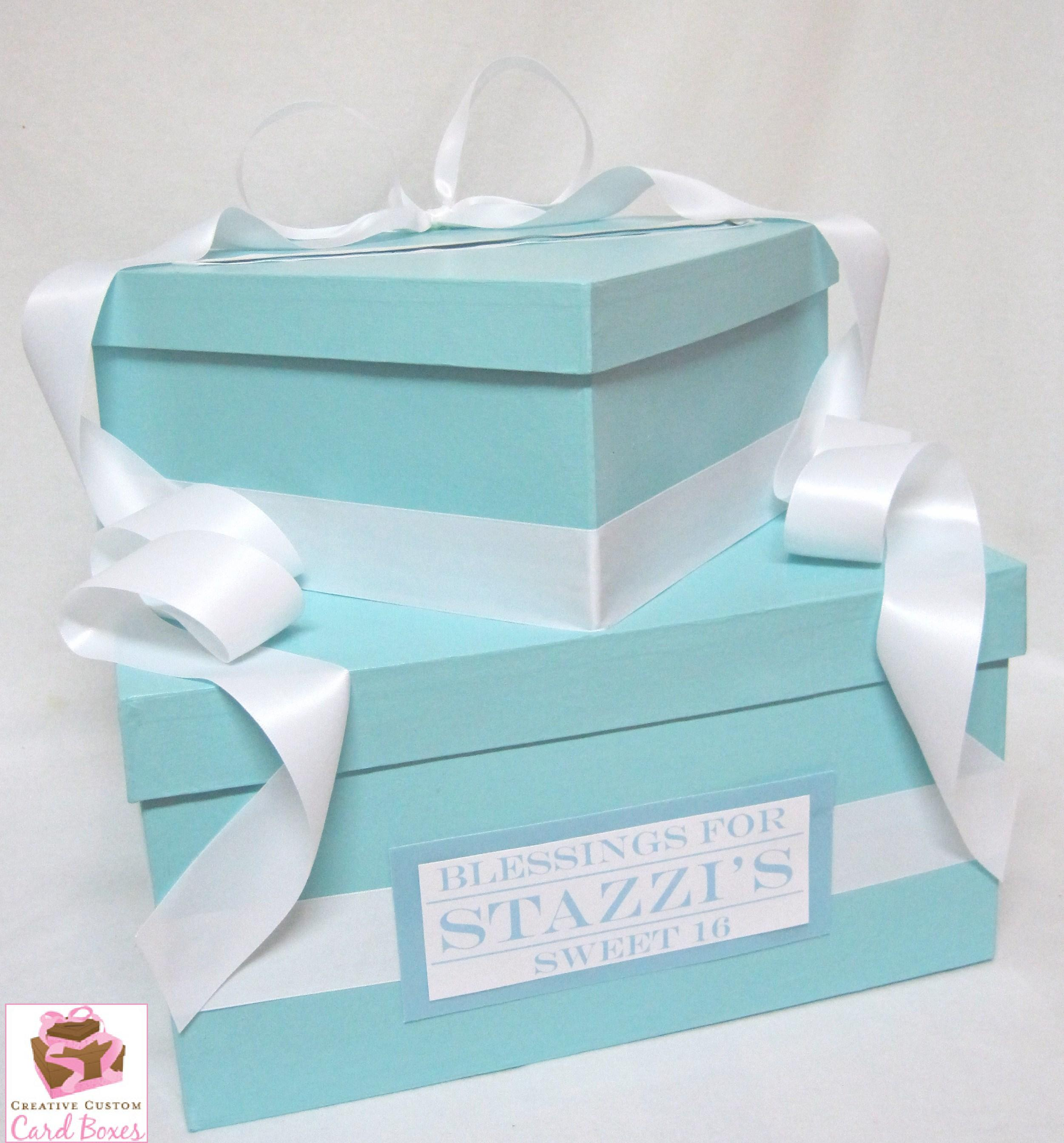 Wedding Gift Box Tiffany Blue : Baby Gift Tiffany Wedding Gifts With Blue Box And White Ribbon