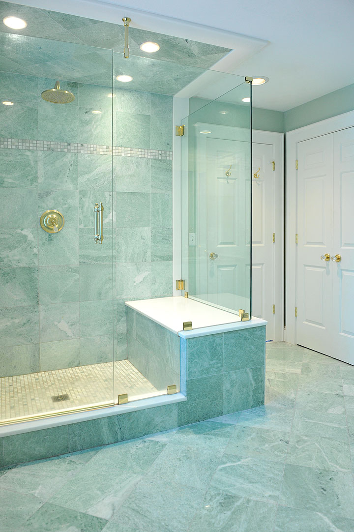 Ming green marble tile homesfeed for Bathroom designs using mariwasa tiles