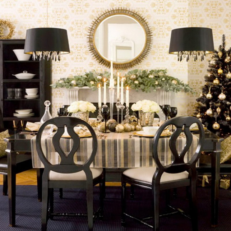 beautiful christmas centerpieces for dining room tables and chairs with double unique lights round mirror and - Dining Room Table Decor