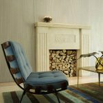 Beautiful Lounge Chairs For Living Room With Fireplace And Stripped Rug