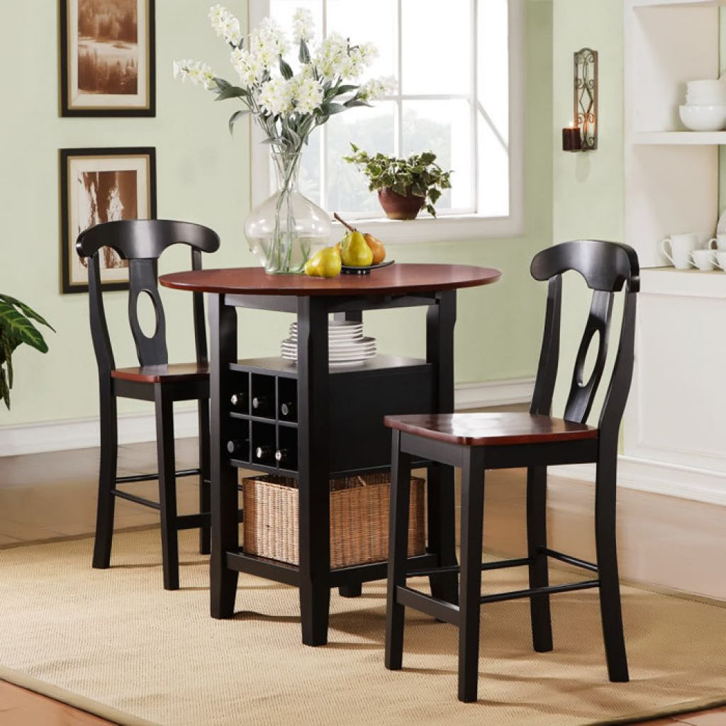 Beautiful Round High Top Table Sets With Storage And Chairs & High Top Table Sets | HomesFeed