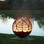 Beautiful metal fire pit for outdoor use