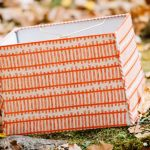 Beautiful orange rectangle lampshade idea
