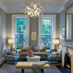 Best Teal Living Room Decor With Awesome Chandelier And Big Mirror