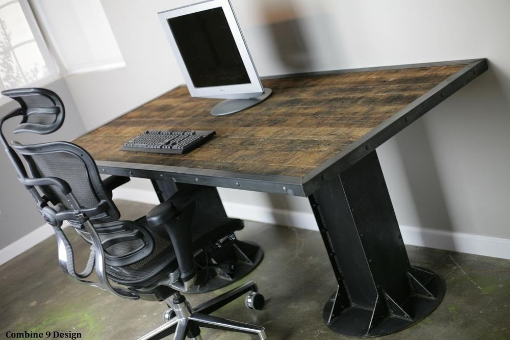 Rustic office desk home design inspiration decor for Office desk design inspiration