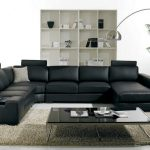 Black Design For Sofa Designs For Living Room With Long Floor Lamp Fur Rug And Glass Coffee Table