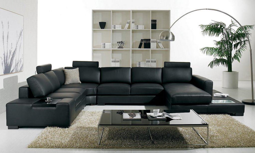Black Design For Sofa Designs For Living Room With Long Floor Lamp Fur Rug  And Glass