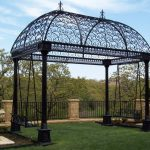 Black Iron Wrought Iron Pergola Gazebo
