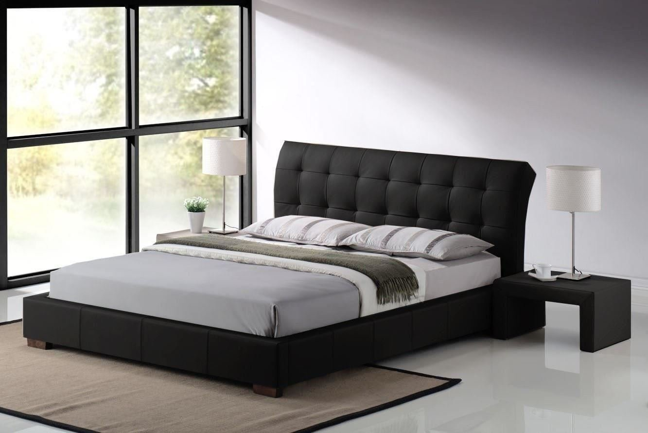 modern king size bed frame homesfeed. Black Bedroom Furniture Sets. Home Design Ideas
