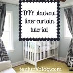 Black White Pattern Of Blackout Curtains Nursery With White Crib