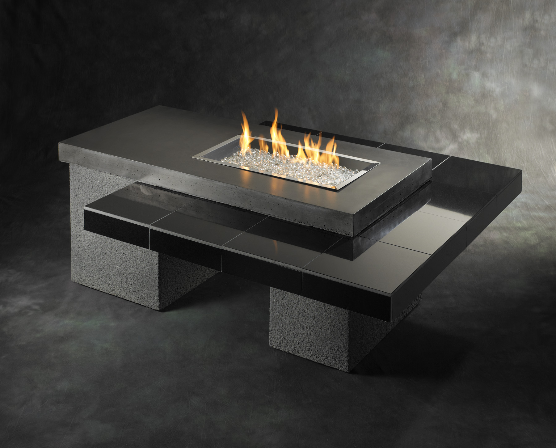 Black modern mnimalist fire pit table idea with black ceramic surface  Top Result 50 Awesome Natural Gas Fire Table