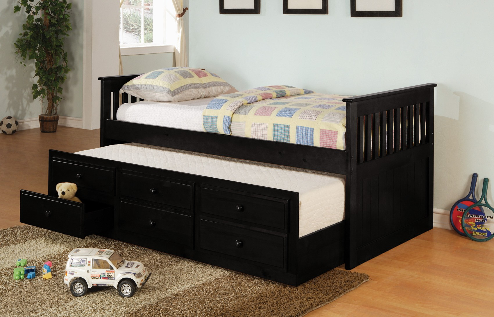 Double Trundle Bed for Kids\' Bedroom | HomesFeed