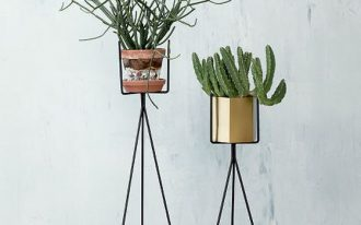 Black wrough iron stands for plants idea