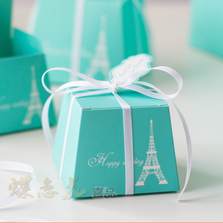 Wedding Gift For Bride Tiffany : Blue Candy Box Tiffany Wedding Gifts With White RIbbon