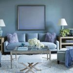 Blue Living Room Design Inspiration For Wall Furniture Curtains And Big Stylish Rug