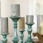 Blue Mercury Candlestick Stand Idea