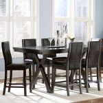 Brown Wooden Oxford Creek Furniture For Dining Room Plus White Rug