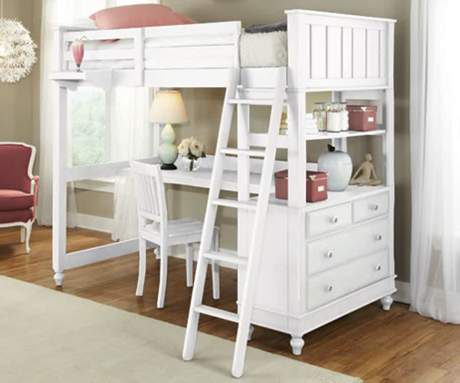 White Bunk Bed with Desk: See the Design Variants – HomesFeed